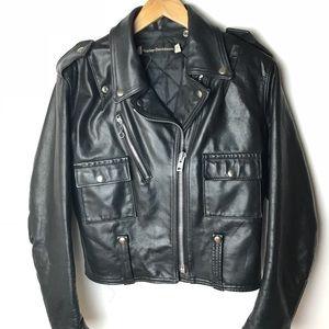 Vintage Harley Davidson Biker Jacket Leather Sz 36